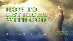 How to Get Right with God