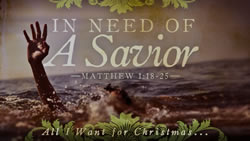 In Need of a Savior