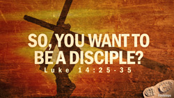 So You Want to be a Disciple?
